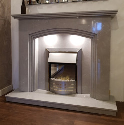 Rossi fireplace in Italian grey marble