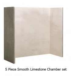 Natural Limestone Smooth chamber (5 piece )