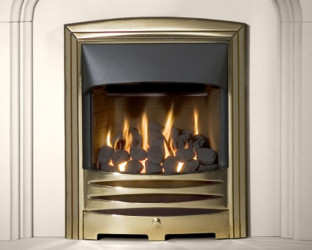 Solaris HE gas fire - Brass