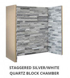 Staggered Silver Grey / White Slate Block chamber