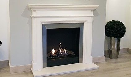 Derwent HE fireplace  gas suite
