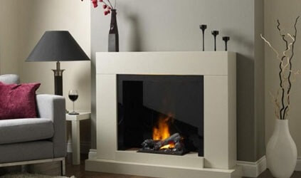 Katell Verama free standing electric fire suite